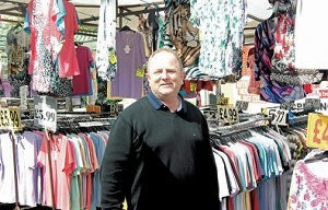Ray Flowers of The Clobber Shop Romford Market