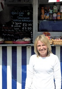Ruth Cook of JJ's Sandwich Bar Romford Market