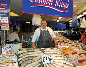 Tony Frame of The Salmon King Bolton Market