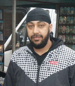 Bobby Singh of Kapool Accessories Blackbushe Market
