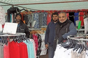 M.S Barsa (R) of Fashion Arcade Grays Market