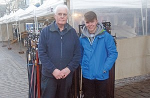 Bill Byrne & James Mawson, who are looking after the stall while the owner Andrew Byrne is away (Bill's son) Keswick Market
