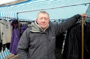 Dave Litchfield selling 'Ladies Fashions' Earlestown Market