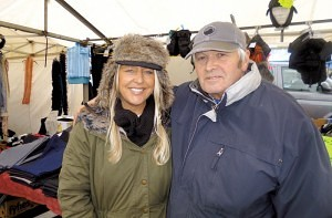 Meg & Stuart Nanier selling 'Mens & Boys Outfits' Earlestown Market