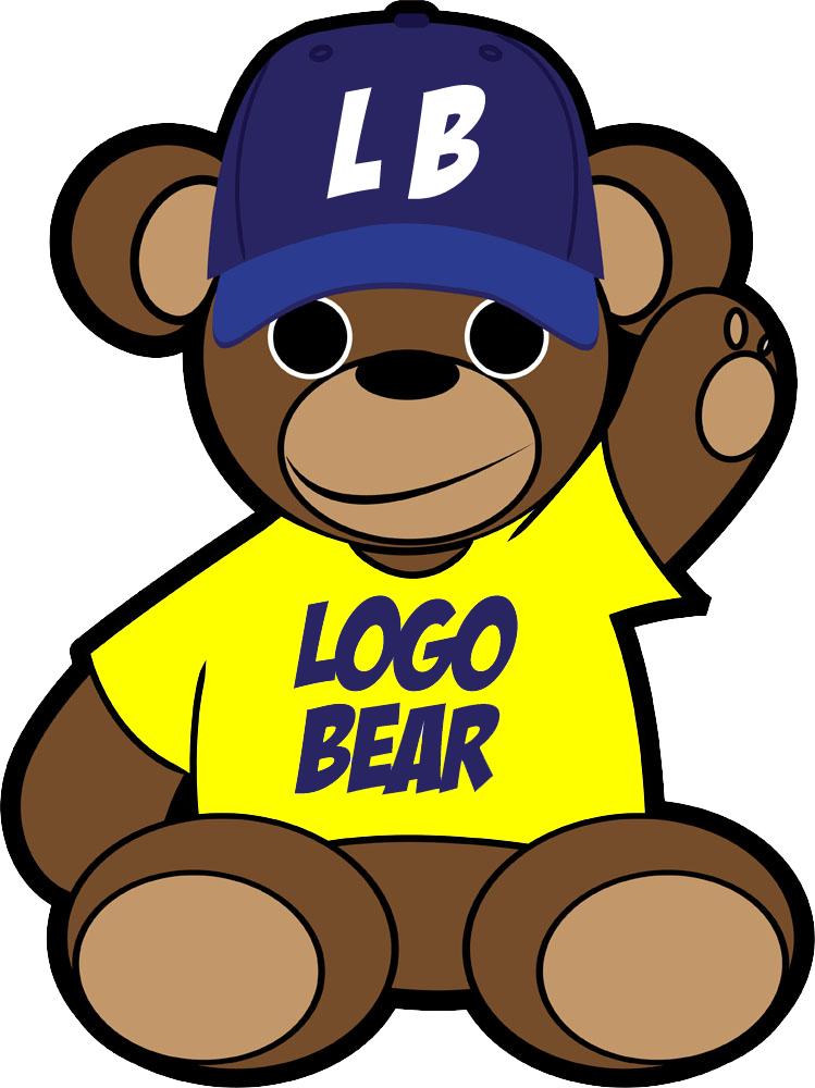 Logobear Tshirt print & embroidery